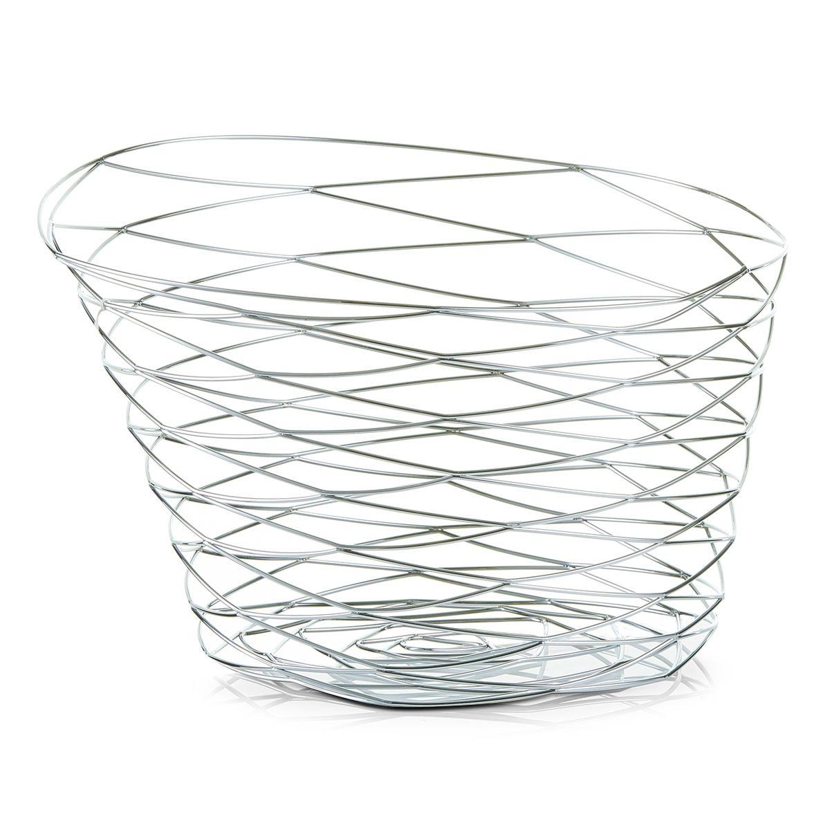 Ваза для фруктов Zeller, 27 х 27 х 19 см27320Ваза для фруктов Zeller изготовлена из высококачественного хромированного металла. Она впечатляет своим дизайном, качеством и оригинальным исполнением. Прекрасный вариант подарка человеку, ценящему изысканные вещи. Такая ваза достойна стать украшением даже самого богатого застолья.