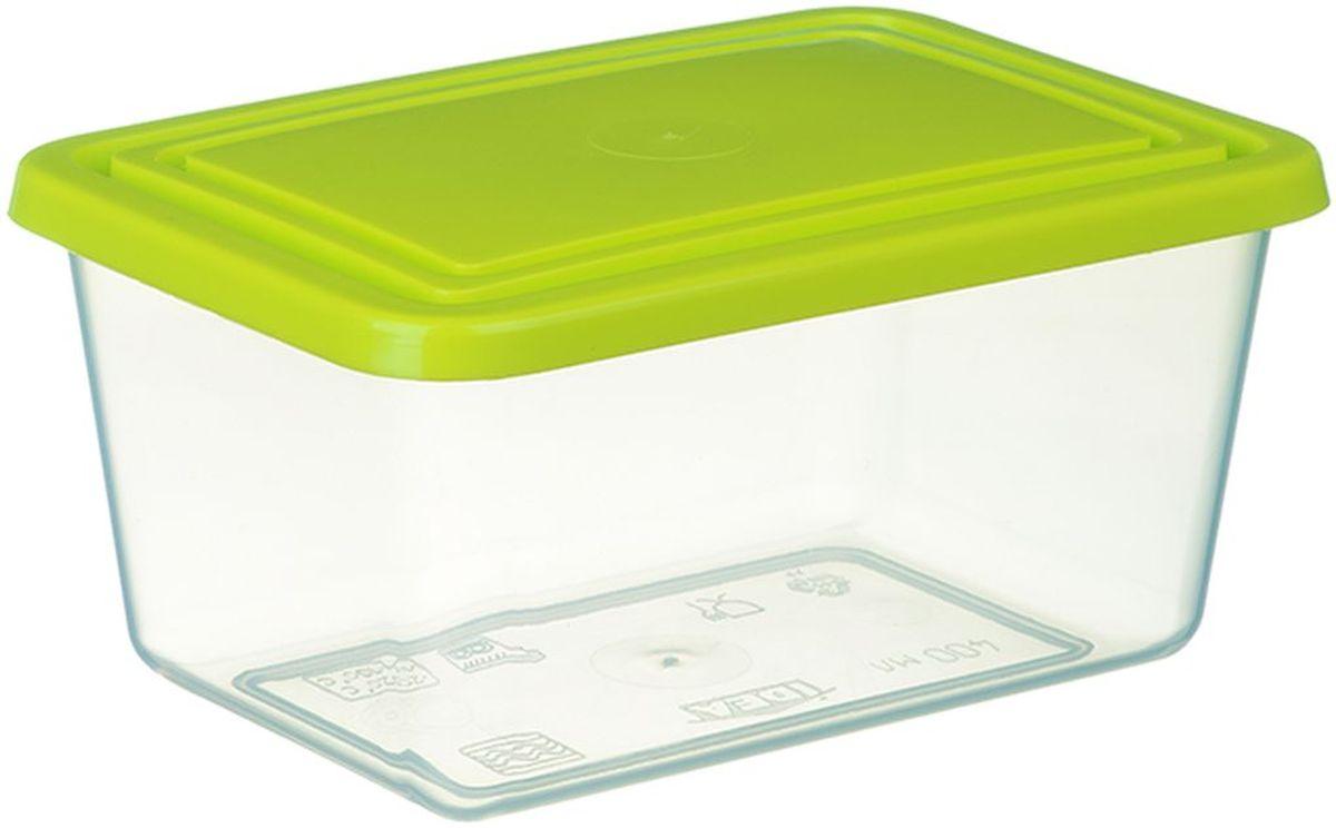 Контейнер пищевой Idea, цвет: прозрачный, салатовый, 2 л21395599Контейнер Idea изготовлен из пищевого полипропилена. Крышка из эластичного материала плотно закрывается, дольше сохраняя продукты свежими. Боковые стенки прозрачные, что позволяет видеть содержимое. Контейнер идеально подходит для хранения пищи, фруктов, ягод, овощей. В нем также можно хранить разнообразные сыпучие продукты. Такой контейнер пригодится в любом хозяйстве.