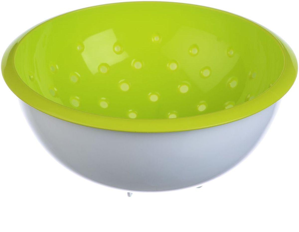 Дуршлаг Idea, с миской, цвет: салатовый, 2 лМ 1134Дуршлаг Idea, изготовленный из пищевогополипропилена, станет полезным приобретениемдля вашей кухни. Он идеально подходит дляпроцеживания, ополаскивания овощей и фруктов и стекания жидкости. Дуршлаг оснащен устойчивымоснованием и миской.Дуршлаг Idea станет незаменимым атрибутомна кухне каждой хозяйки. Диаметр дуршлага (по верхнему краю): 22,5 см.Высота стенок: 9,5 см.