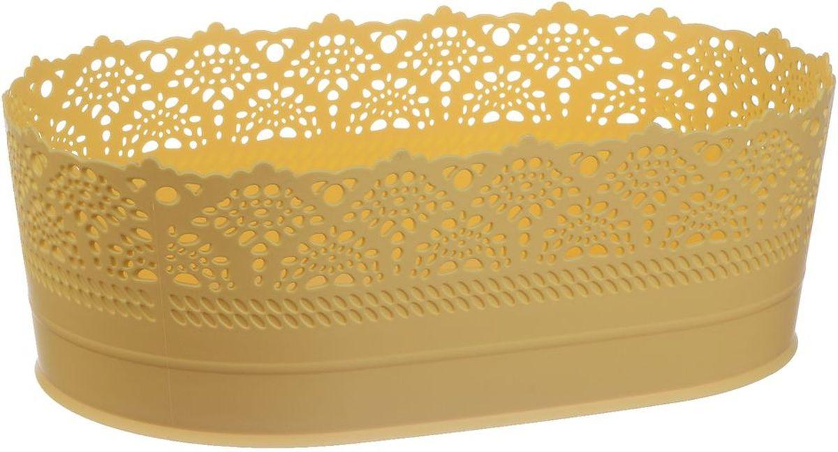 Сухарница Idea Ажур, цвет: желтый, длина 22 см7021WBОригинальная сухарница Idea Ажур, выполненная из пластика, послужит приятным и полезным сувениром для близких и знакомых и, несомненно, доставит массу положительных эмоций своему обладателю.Длина: 22 см.