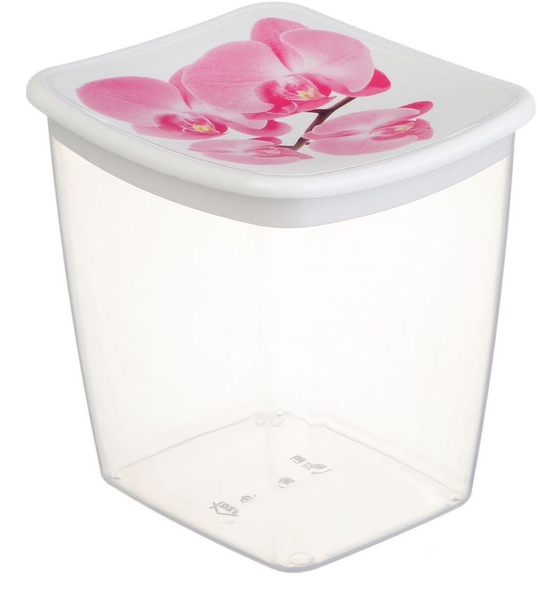 Емкость для сыпучих продуктов Idea Деко. Орхидея, 1 л21395599Емкость Idea Деко. Орхидея выполнена из пищевого полипропилена и предназначена для хранения сыпучих продуктов. Не содержит Бисфенол A. Изделие оснащено плотно закрывающейся крышкой, благодаря которой продукты дольше остаются свежими.