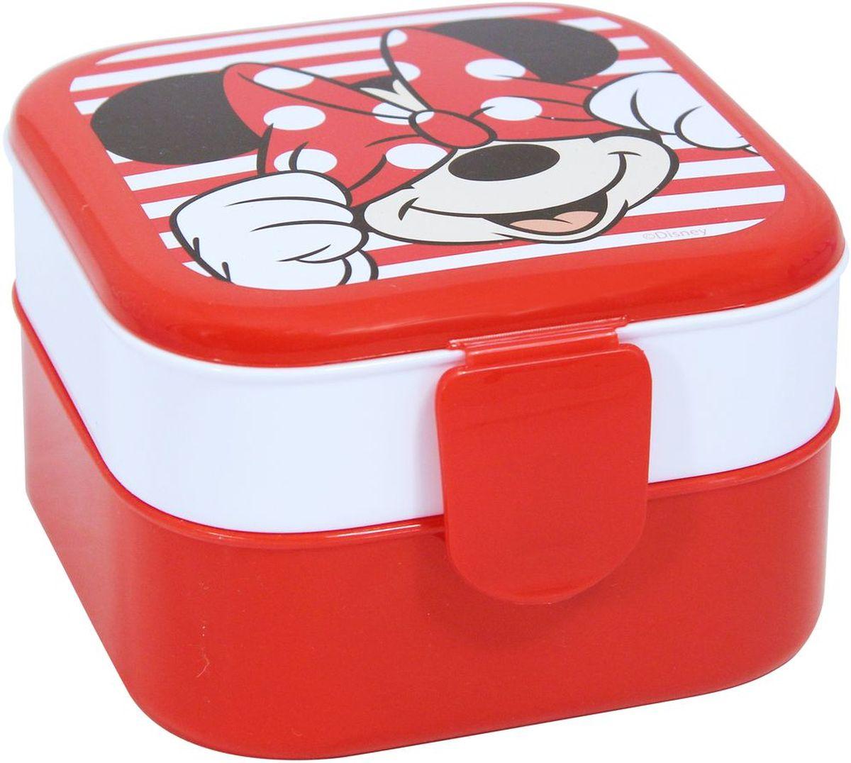 Контейнер Idea Disney. Минни Маус, 2 секции, цвет: красныйSC-FD421004Контейнер Idea Disney изготовлен из высококачественного пластика, предназначен для хранения продуктов. Изделие декорировано ярким рисунком. Контейнер легко открывается, оснащен двумя съемными отделениями и клапаном на крышке. Контейнер - отличное решение для хранения продуктов.Размер контейнера: 12 см х 12 см х 8 см. Объем секции: 0,4 л.