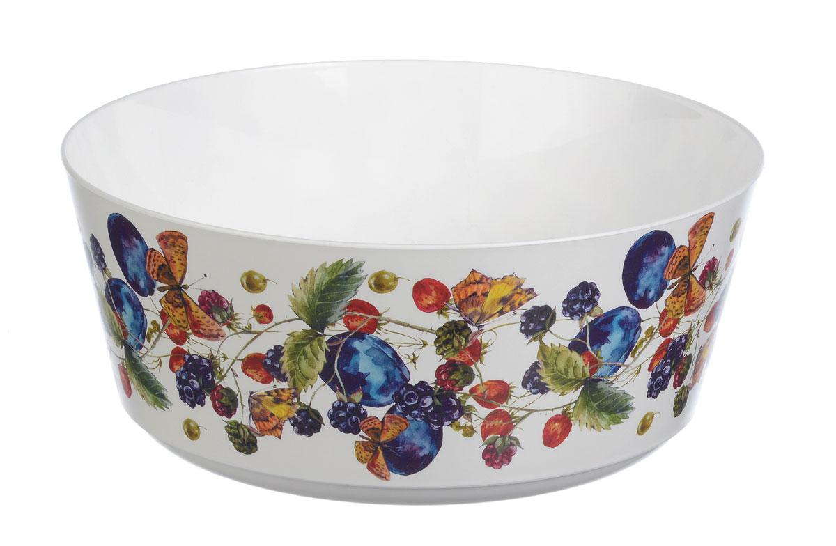 Миска Idea Деко. Фрукты, 3 лFS-91909Вместительная миска Idea Деко. Фрукты изготовлена из высококачественного пищевого пластика. Изделие очень функциональное, оно пригодится на кухне для самых разнообразных нужд: в качестве салатника или миски. Стенки изделия оформлены ярким рисунком.
