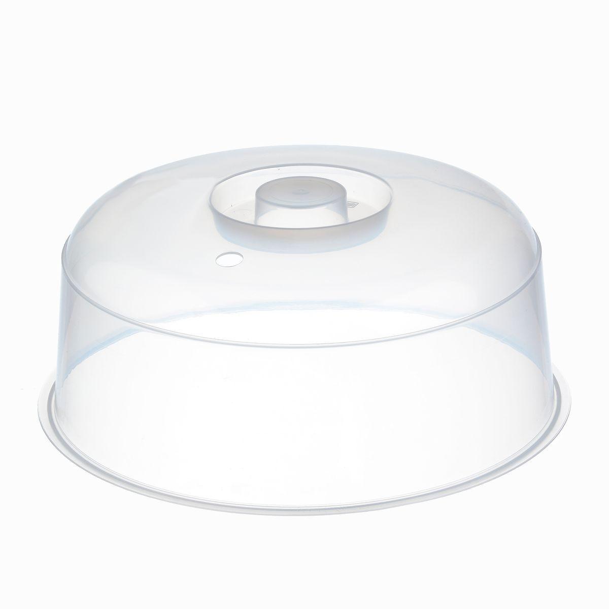 Крышка для СВЧ Idea, цвет: прозрачный, диаметр 24,5 смMT-3759Крышка для СВЧ Idea с отверстием для выпуска пара предохраняет внутреннюю поверхность микроволновой печи от брызг во время разогрева пищи. Изготовлена из высококачественного пищевого пластика.Диаметр крышки: 24,5 см.