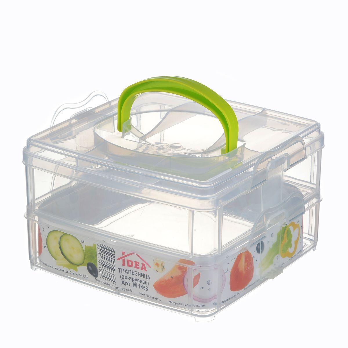 Фруктовница Idea, 2-яруснаяW22061318Оригинальная фруктовница Idea с крышкой изготовлена из пищевого пластика. Она идеально подходит для хранения любых фруктов. Изделие имеет 2 яруса, которые можно отделить друг от друга для удобной мойки. Размер: 16,3 х 10 х 15,5 см.