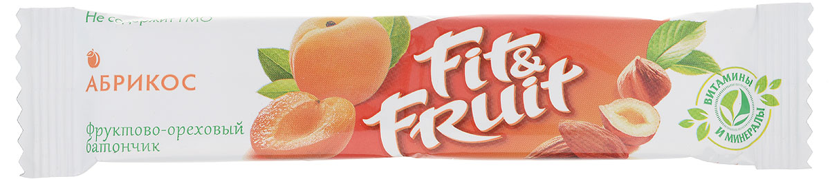 Fit&Fruit Фруктово-ореховый батончик со вкусом абрикоса, 40 г4665273321137Fit&Fruit - современный, инновационный бренд, который полностью удовлетворяет потребности людей в натуральном, полезном и здоровом питании. Возможность есть полезные и натуральные продукты для людей всех возрастов и социальных классов. Фруктово-ореховые батончики Fit&Fruit - это полностью натуральный продукт, состоящий из измельченных орехов и сухофруктов. В батончиках не используются искусственные красители, подсластители и консерванты. Также в батончиках не содержится сахар - только натуральная фруктоза. Батончики не проходят температурной обработки в процессе приготовления, благодаря чему в них сохраняются все витамины, минералы и микроэлементы, присущие свежим фруктам. Уважаемые клиенты! Обращаем ваше внимание, что полный перечень состава продукта представлен на дополнительном изображении. Упаковка может иметь несколько видов дизайна. Поставка осуществляется взависимости от наличия на складе.