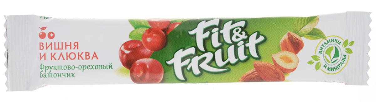 Fit&Fruit Фруктово-ореховый батончик со вкусом вишни-клюквы, 40 г1512001Fit&Fruit - современный, инновационный бренд, который полностью удовлетворяет потребности людей в натуральном, полезном и здоровом питании. Возможность есть полезные и натуральные продукты для людей всех возрастов и социальных классов. Фруктово-ореховые батончики Fit&Fruit - это полностью натуральный продукт, состоящий из измельченных орехов и сухофруктов. В батончиках не используются искусственные красители, подсластители и консерванты. Также в батончиках не содержится сахар - только натуральная фруктоза. Батончики не проходят температурной обработки в процессе приготовления, благодаря чему в них сохраняются все витамины, минералы и микроэлементы, присущие свежим фруктам. Уважаемые клиенты! Обращаем ваше внимание, что полный перечень состава продукта представлен на дополнительном изображении. Упаковка может иметь несколько видов дизайна. Поставка осуществляется взависимости от наличия на складе.