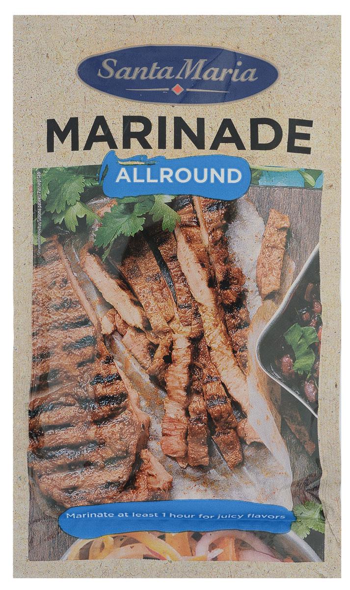 Santa Maria маринад универсальный, 75 г17493Универсальный маринад - основа для создания неповторимых вкусов. Прекрасно смягчает мясо во время приготовления. Подходит также для маринования рыбы и овощей.Идеальная база для маринования любого вида мяса. Чтобы придать дополнительную остроту говядине, добавьте мелко нарезанный перчик Чили. Для придания остроты курице, добавьте больше чесночка. Если вы готовите овощи гриль, можно добавить немного свежего тимьяна.Уважаемые клиенты! Обращаем ваше внимание, что полный перечень состава продукта представлен на дополнительном изображении.