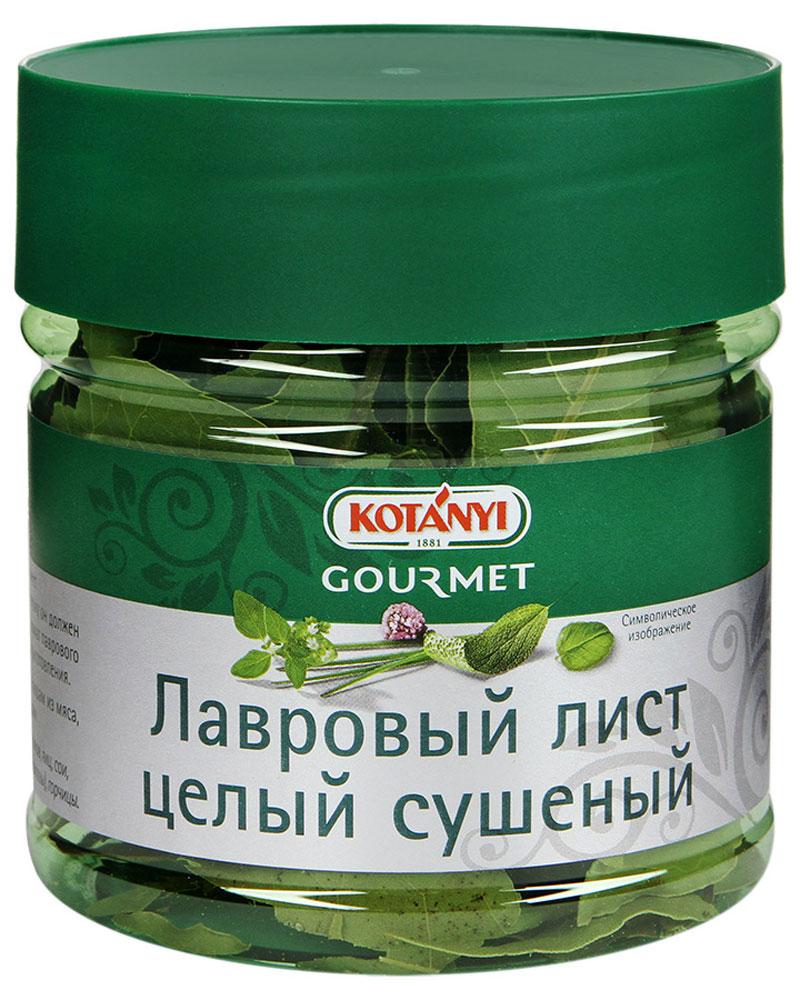 Kotanyi Лавровый лист целый сушеный, 20 г0120710Лавровый лист Kotanyi имеет интенсивный пряный, горьковатый вкус. Поэтому он должен использоваться в небольшом количестве. Аромат лаврового листа полностью раскрывается в процессе приготовления.Применение: придает пряный вкус супам, блюдам из мяса, рыбы, дичи, овощей, а также тушеным блюдам.
