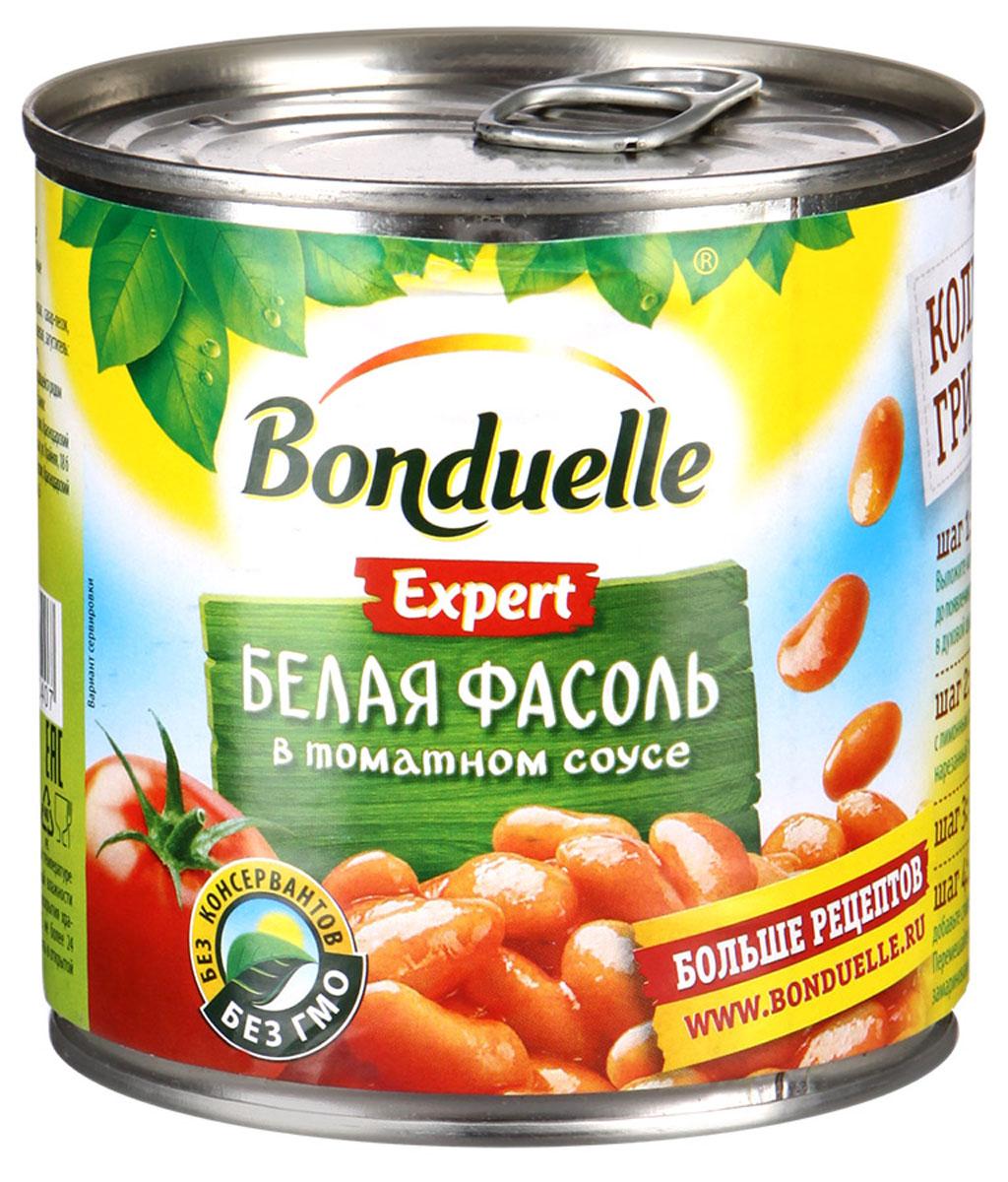 Bonduelle белая фасоль в томатном соусе, 400 г