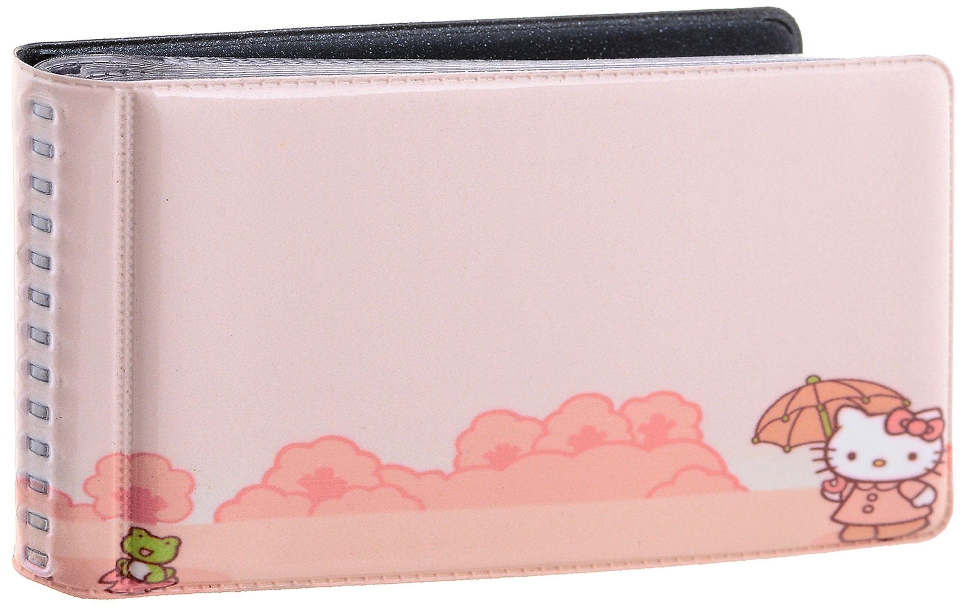 Визитница Эврика Китти, цвет: розовый. 93202BM8434-58AEОригинальная визитница. Внутри расположен блок на 20 страниц-карманов для размещения визиток.