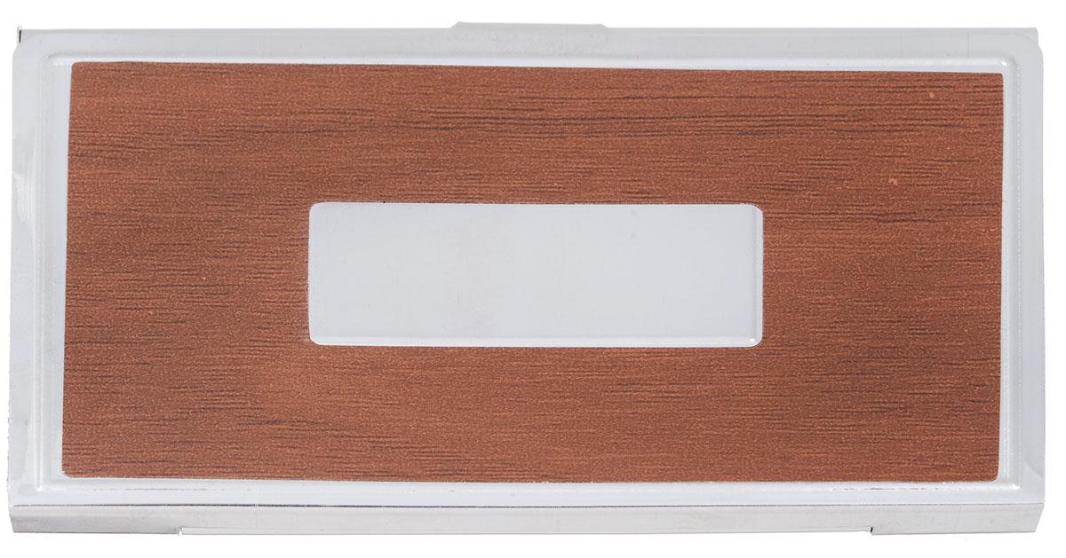 Визитница Mitya Veselkov Vizmet, цвет: коричневый. VIZMET-BROWN-simG39-3 BEIGEКлассическая металлическая визитница. Удобно организует визитки.