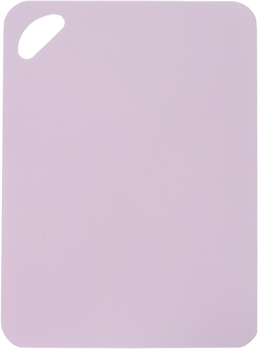 Доска разделочная LaraCook, гибкая, цвет: розовый, 25 х 34 см68/5/4Гибкая разделочная доска LaraCook прекрасно подходит для разделки всех видов пищевых продуктов. Изготовлена из гибкого одноцветного полипропилена (пластика) для удобства переноски и высыпания. Изделие оснащено отверстием для подвешивания на крючок и нескользящей внутренней поверхностью.Можно мыть в посудомоечной машине.