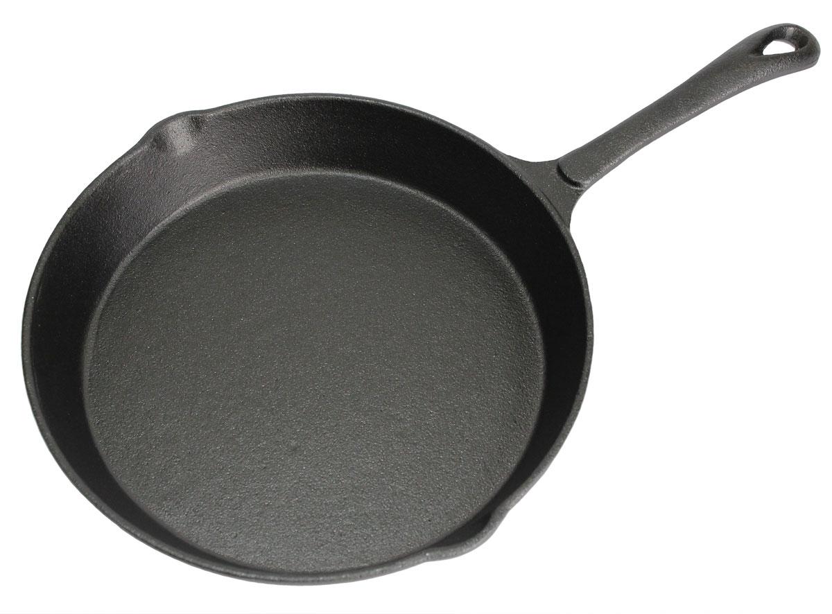 Сковорода Vetta, с 2 сливами. Диаметр 20 см391602Сковорода Vetta изготовлена из чугуна. Высокая теплоемкость чугуна позволяет ему сильно нагреваться и медленно остывать, а это в свою очередь обеспечивает равномерное приготовление продуктов. Пища, приготовленная в чугунной посуде, сохраняет свои вкусовые качества, и благодаря экологической чистоте материала, не может нанести вред здоровью человека. Также чугунная сковорода обладает высокой прочностью и износоустойчивостью. Для более удобного использования сковорода оснащена эргономичной ручкой. Сковорода Vetta подходит для использования: в духовке, на газовой, галогеновой плитах. Не рекомендуется мыть в посудомоечной машине.