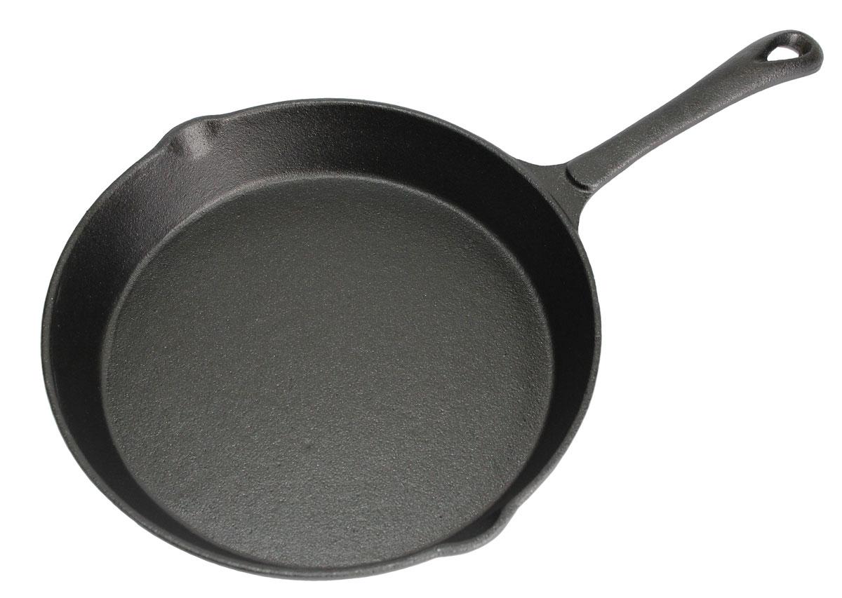 Сковорода чугунная Vetta. Диаметр 25 см54 009312Сковорода Vetta изготовлена из чугуна. Высокая теплоемкость чугуна позволяет ему сильно нагреваться и медленно остывать, а это в свою очередь обеспечивает равномерное приготовление продуктов. Пища, приготовленная в чугунной посуде, сохраняет свои вкусовые качества, и благодаря экологической чистоте материала, не может нанести вред здоровью человека. Также чугунная сковорода обладает высокой прочностью и износоустойчивостью. Для более удобного использования сковорода оснащена эргономичной ручкой и двумя носиками для слива. Сковорода Vetta подходит для использования: в духовке, на газовой, галогеновой плитах. Не рекомендуется мыть в посудомоечной машине.