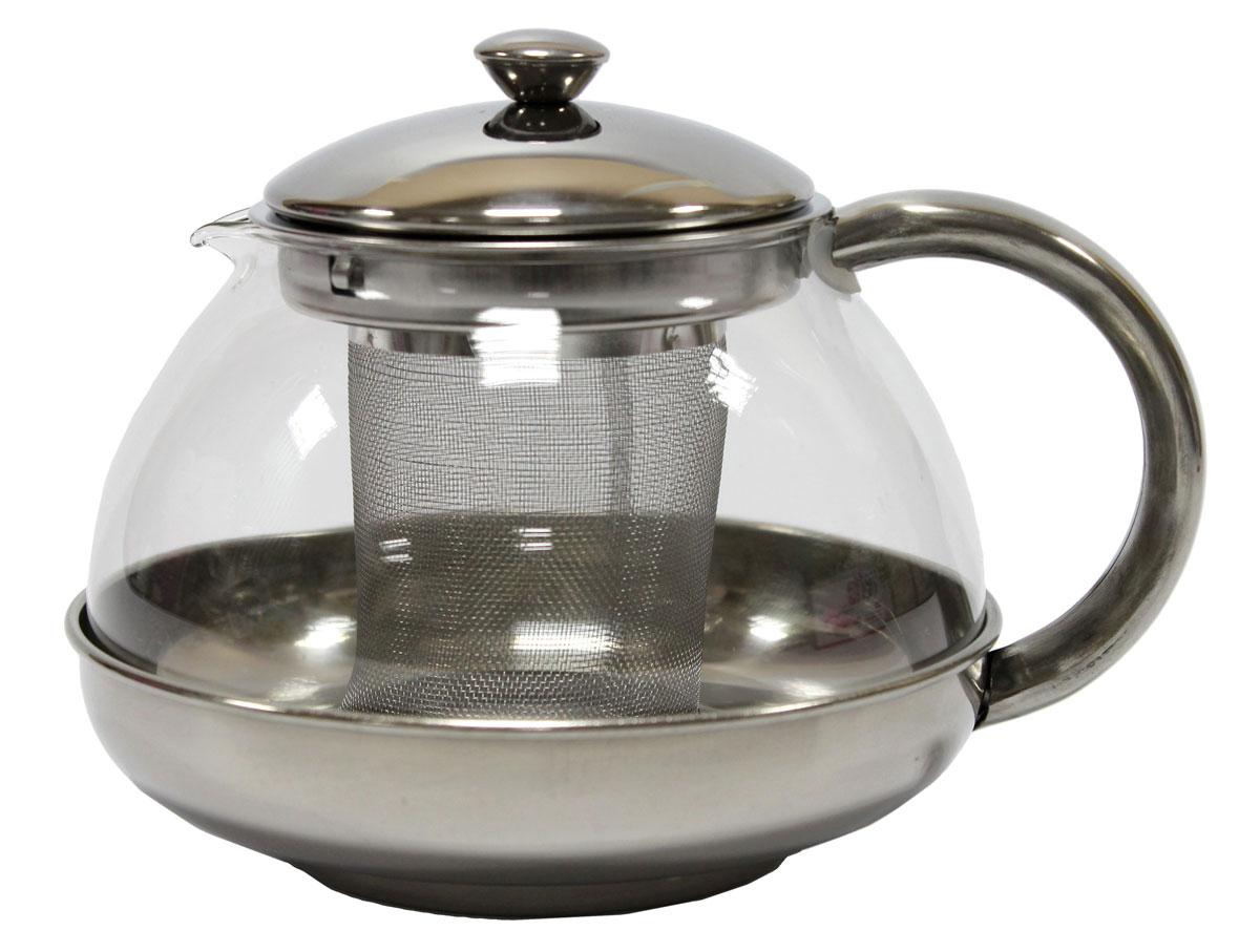 Чайник заварочный Vetta Катерина, 750 мл115510Заварочный чайник Vetta Катерина выполнен из нержавеющей стали и стекла. Имеет сеточку. Легкий, прочный. Удобный в применении.