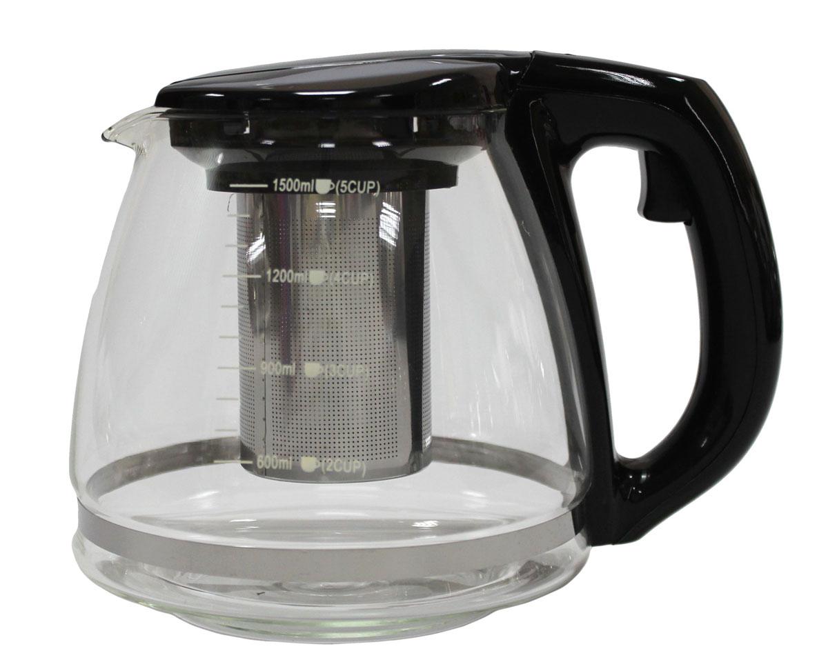 Чайник заварочный Vetta, 1,5 лVT-1520(SR)Заварочный чайник Vetta, изготовленный из термостойкого стекла и полипропилена, предоставит вам все необходимые возможности для успешного заваривания чая. Чай в таком чайнике дольше остается горячим, а полезные и ароматические вещества полностью сохраняются в напитке. Чайник оснащен фильтром, который выполнен из нержавеющей стали. Простой и удобный чайник поможет вам приготовить крепкий, ароматный чай.
