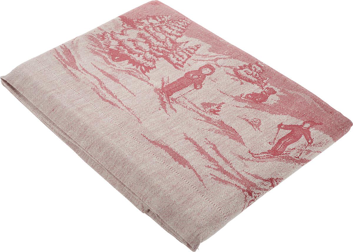 Скатерть Гаврилов-Ямский Лен, прямоугольная, 178 х 200 см. 5287CLP446Скатерть Гаврилов-Ямский Лен, изготовленная изо 49% льна и 51% хлопка, станет отличным украшением интерьера столовой или кухни и придаст праздничный вид новогоднему столу. Скатерть оформлена красивым новогодним рисунком, обладает плотной текстурой, высокой износостойкостью и прочностью.Лен - поистине уникальный природный материал, который отличается высокой экологичностью. Скатерти из натурального льна придадут вашему дому уют и тепло натурального материала. Хлопок представляет собой натуральное волокно, которое получают из созревших плодов такого растения как хлопчатник. Качество хлопка зависит от длины волокна - чем длиннее волокно, тем ткань лучше и качественней.