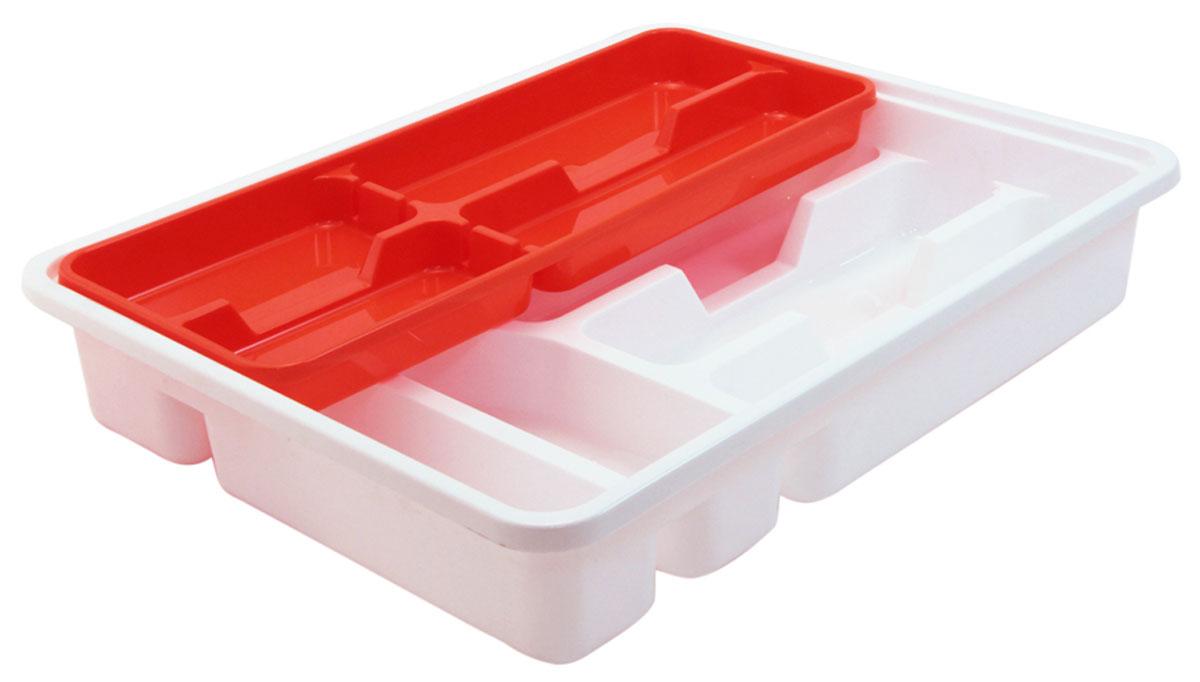 Лоток-вкладыш для столовых приборов Idea, двухуровневый, цвет: оранжевыйВетерок 2ГФЛоток-вкладыш для столовых приборов Idea изготовлен из пластика. Лоток помогает поддерживать порядок на кухне, разделяя столовые приборы по своим местам.Вкладыш - это дополнительное место для хранения, которое не увеличивает ширину лотка. Столовые приборы, которые лежат в нижней части, удобно доставать, вкладыш легко сдвигается в сторону или вынимается из лотка.