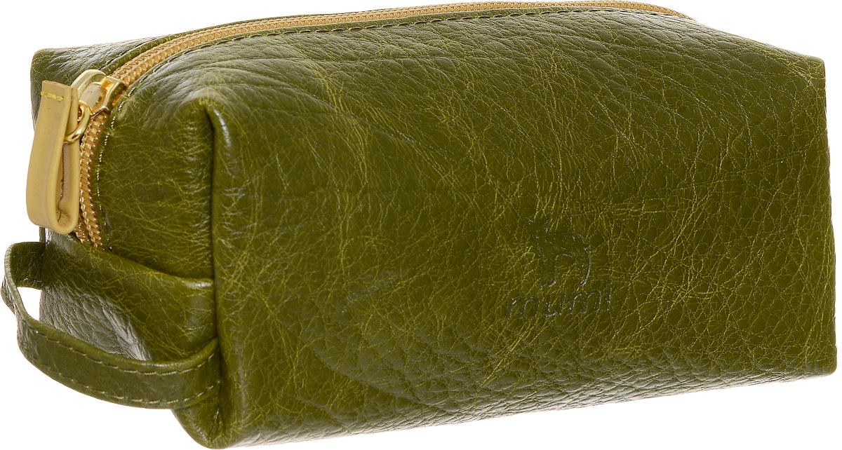 Косметичка Dimanche Mumi, цвет: болотный, желтый. 728_ВG39-3 BEIGEКосметичка Dimanche Mumi изготовлена из высококачественной натуральной кожи с фактурным тиснением. Изделие имеет одно отделение. Внутренняя поверхность отделана полиэстером. Закрывается косметичка на застежку-молнию. С одной из боковых сторон изделие оснащено удобной ручкой. Косметичка Dimanche Mumi - яркий стильный аксессуар, который станет незаменимым для хранения косметики. Благодаря компактным размерам она поместится в любую сумочку.