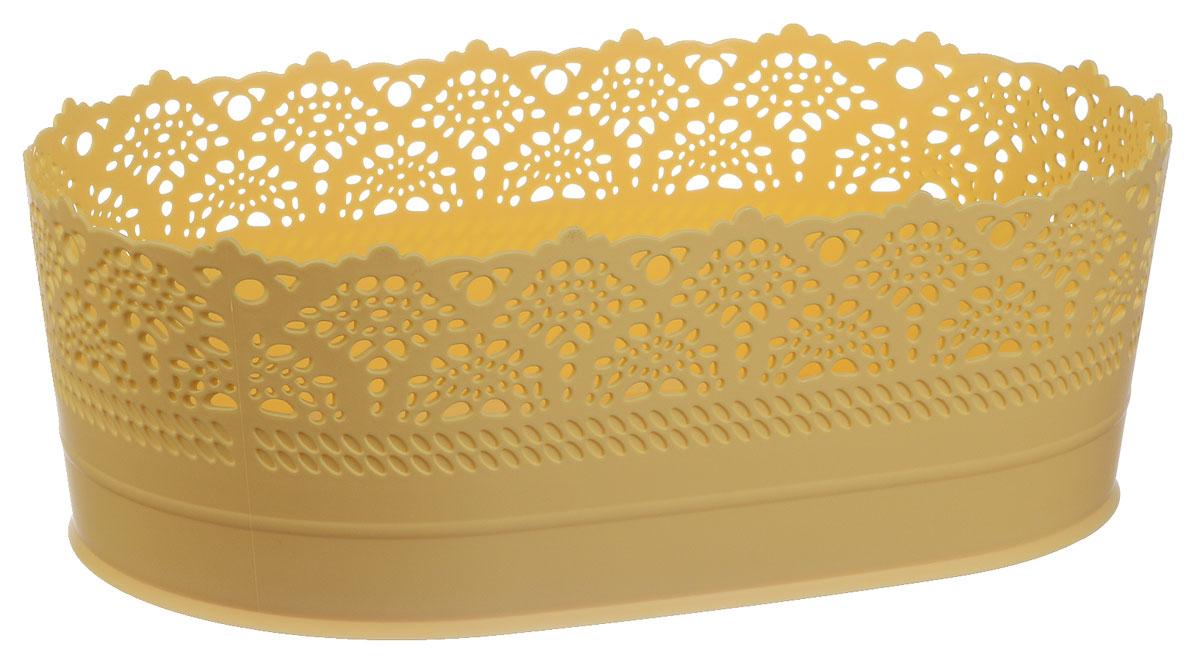 Сухарница Idea Ажур, цвет: желтый, длина 28 смFA-5125 WhiteОригинальная сухарница Idea Ажур, выполненная из пластика, послужит приятным и полезным сувениром для близких и знакомых и, несомненно, доставит массу положительных эмоций своему обладателю.Длина: 28 см.