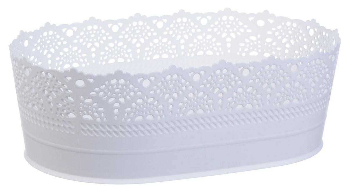 Сухарница Idea Ажур, цвет: белый, длина 28 смМ 1181Оригинальная сухарница Idea Ажур, выполненная из пластика, послужит приятным и полезным сувениром для близких и знакомых и, несомненно, доставит массу положительных эмоций своему обладателю.Длина: 28 см.