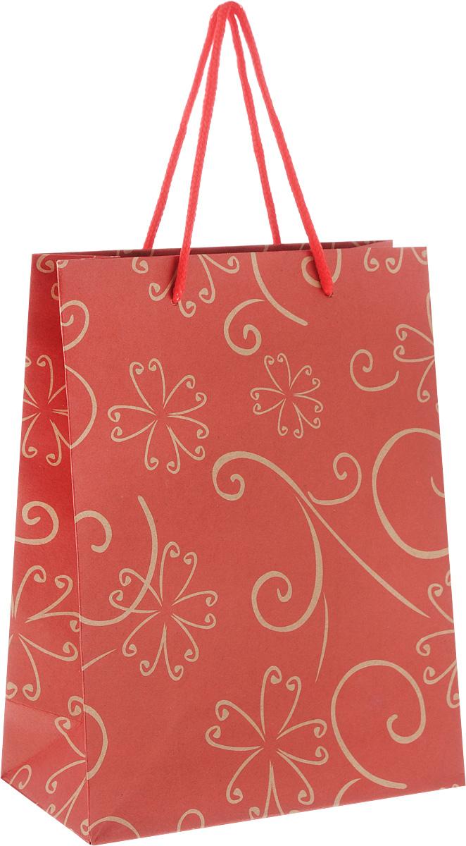 Пакет подарочный Феникс-Презент Цветочный узор, 19 х 8 х 24,5 см7714024_BK011 розовыйПодарочный пакет Феникс-Презент Цветочный узор, изготовленный из плотной крафт-бумаги, станет незаменимым дополнением к выбранному подарку. Дно изделия укреплено картоном, который позволяет сохранить форму пакета и исключает возможность деформации дна под тяжестью подарка. Пакет украшен цветочным узором. Для удобной переноски имеются две текстильные ручки в виде шнурков.Подарок, преподнесенный в оригинальной упаковке, всегда будет самым эффектным и запоминающимся. Окружите близких людей вниманием и заботой, вручив презент в нарядном, праздничном оформлении.