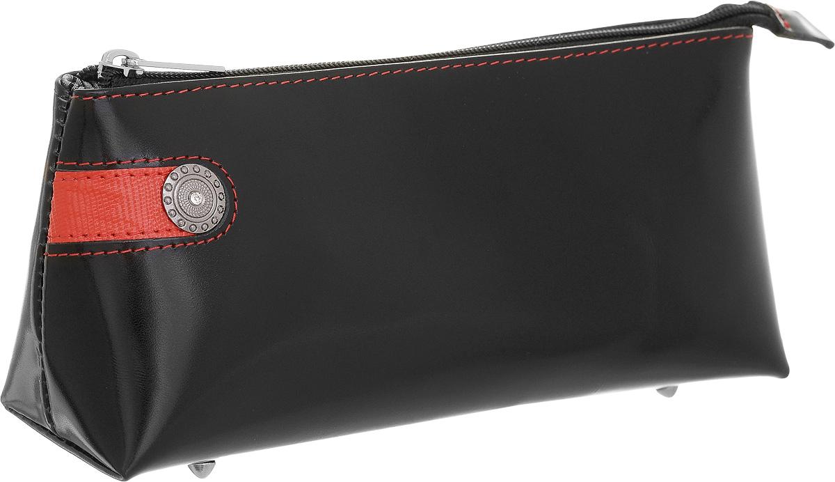 Косметичка Dimanche Panthere Noire, цвет: черный. 328DS2016-004-26Стильная косметичка Panthere Noire выполнена из натуральной кожи с декоративным тиснением. Косметичка закрывается на металлическую молнию, внутриодно большое отделение, на донышке четыре металлических ножки. Объемное дно и удобная застежка делают аксессуар универсальным в повседневном использовании. Характеристики: Цвет: черный. Материал: натуральная кожа, металл, текстиль. Размер косметички: 19 см x 9 см x 5 см. Производитель: Россия. Артикул: 328.