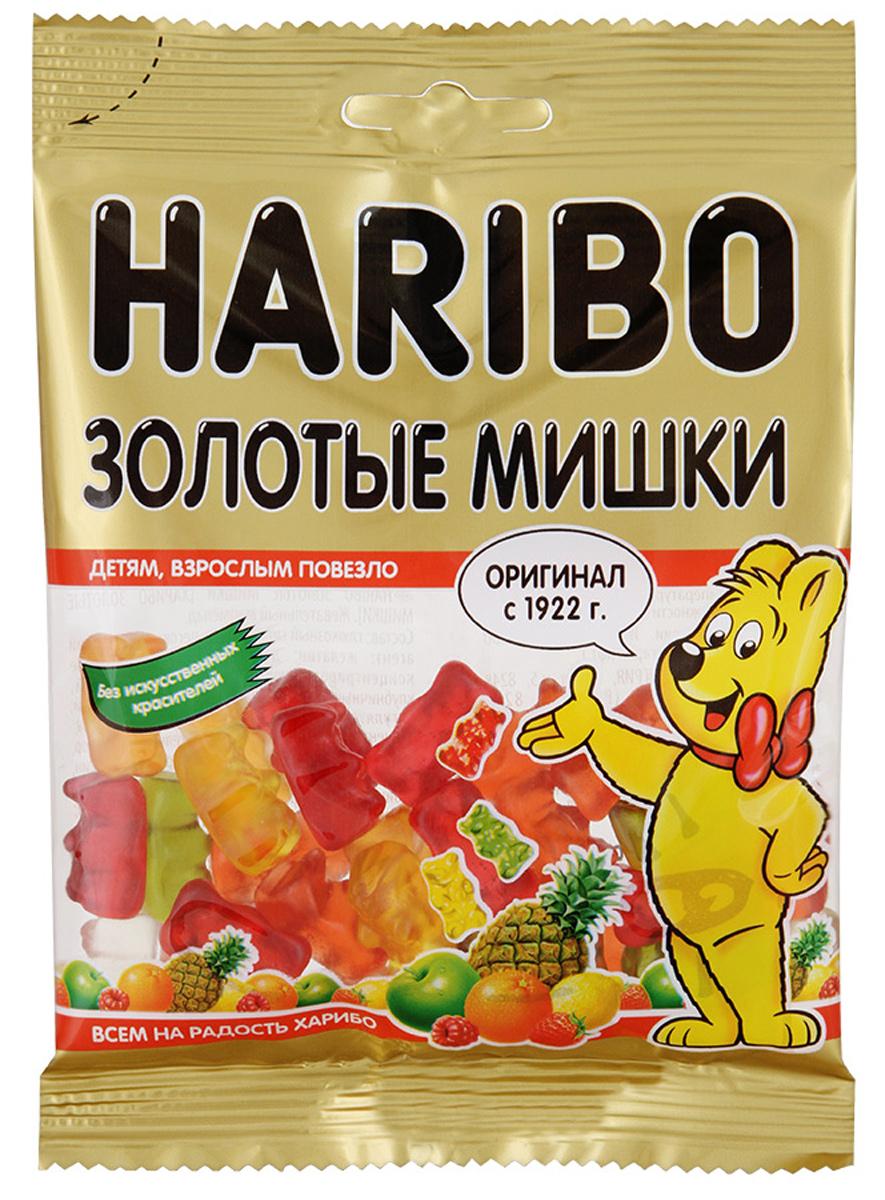 Haribo Золотые мишки жевательный мармелад, 140 г0120710Золотые мишки Haribo - мармелад №1! Основатель категории жевательного мармелада в России! Его знают и любят во всем мире! На протяжении 90 лет Золотые мишки от Haribo - это эталон фруктового жевательного мармелада!Золотые мишки - это лучший друг внимательной и заботливой мамы, которая любит угощать своего ребенка легкими и фруктовыми сладостями!Жевательный мармелад со вкусом клубники, лимона, малины, апельсина, ананаса и яблока никого не оставит равнодушным!Уважаемые клиенты! Обращаем ваше внимание, что полный перечень состава продукта представлен на дополнительном изображении.