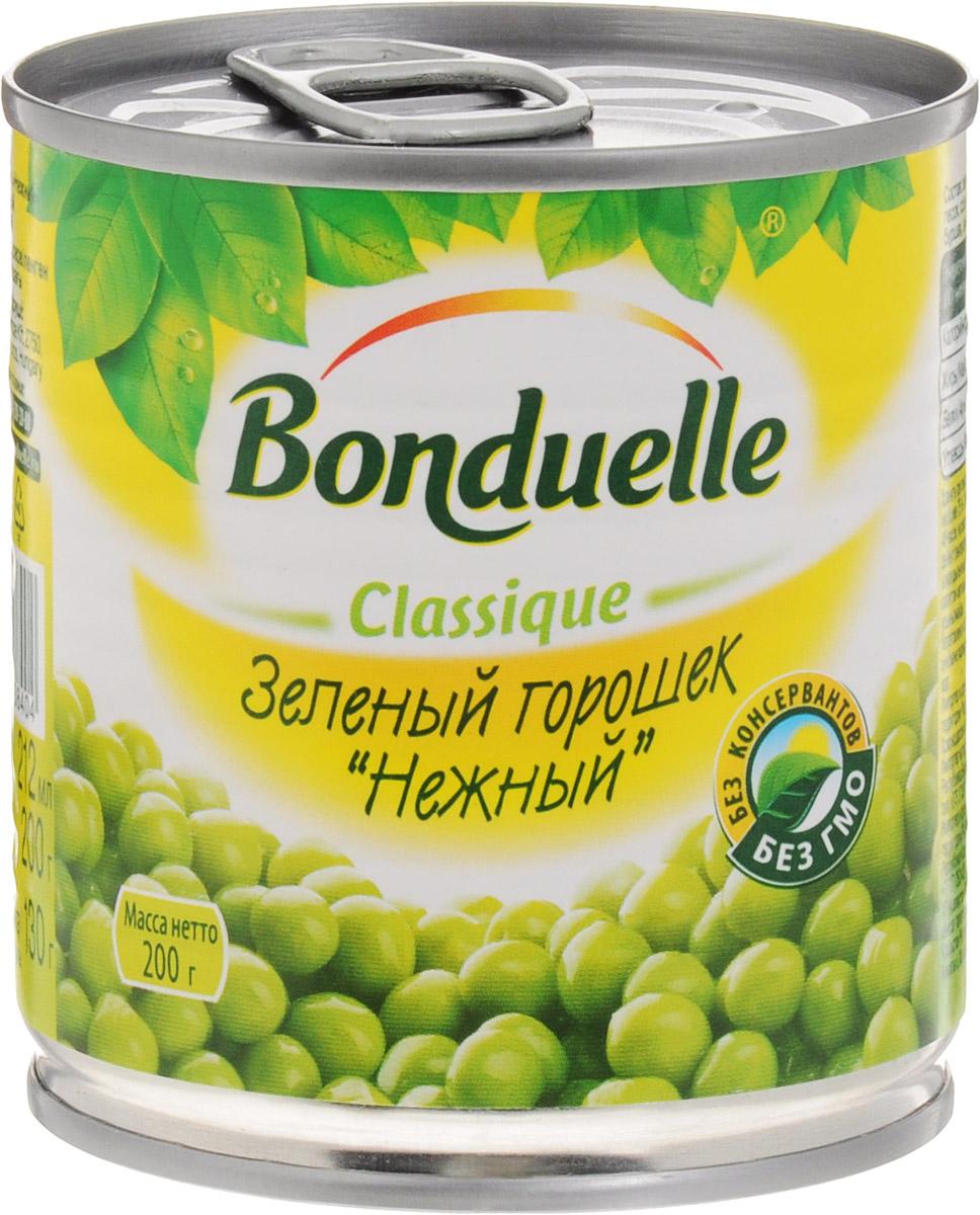 Bonduelle зеленый горошек Нежный, 200 г456Нежнейший и сладкий зеленый горошек непревзойденного качества тщательно отбирается, прежде чем попасть в банку. Только у Bonduelle процесс от сбора с грядки до упаковки проходит всего за 4 часа - поэтому на вашем столе всегда самый лучший горошек мозговых сортов, в котором содержится меньше крахмала, больше витаминов и яркого вкуса.Настоящая классика Bonduelle - продукты, давно знакомые и востребованные, а значит, их качество проверено временем и подтверждено любовью миллионов хозяек и поваров. Без них невозможно представить ни один стол нашей страны, а особенно праздничное меню, где обязательно будут салаты с горошком.Уважаемые клиенты! Обращаем ваше внимание, что полный перечень состава продукта представлен на дополнительном изображении.