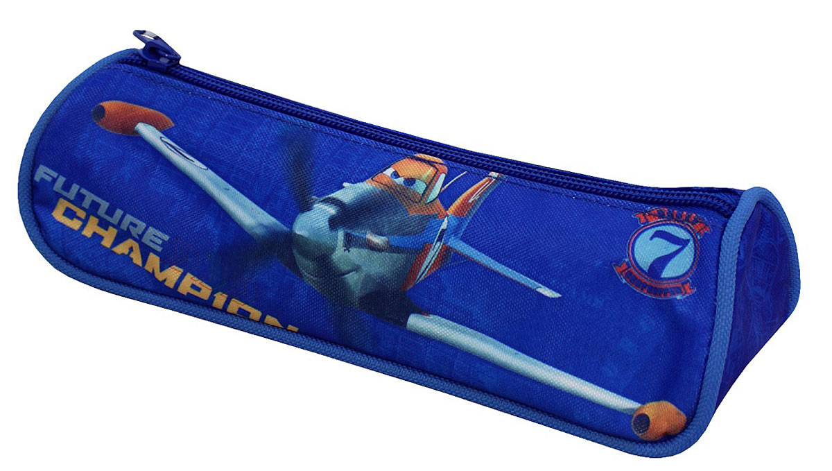 Disney Пенал Самолеты730396Стильный треугольный пенал Disney Самолеты обязательно придется по душе вашему ребенку, ведь ходить в школу с таким привлекательным аксессуаром - одно удовольствие. В своем вместительном отделении на молнии он надежно сохранит все мелкие школьные принадлежности в целости и сохранности. Пенал, декорированный ярким принтом с любимыми героями, выполнен из прочной ткани с водонепроницаемой основой, поэтому служить будет долго.