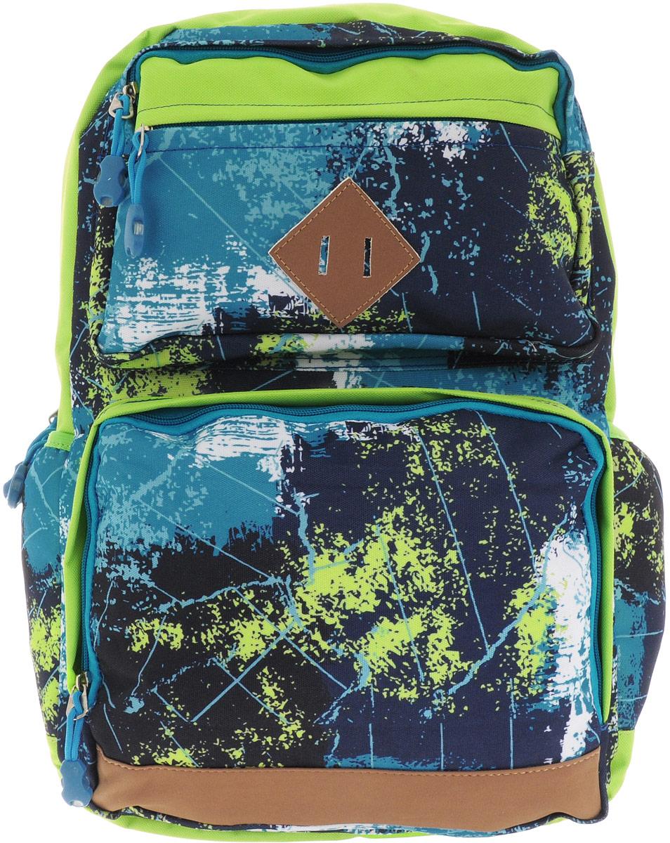 Centrum Рюкзак 8681886818Рюкзак Centrum - это современный многофункциональный молодежный рюкзак, который выполнен из прочного износостойкого материала высокого качества. Рюкзак имеет одно основное отделение, закрывающееся на молнию. В отделении находится широкий накладной карман.Спереди рюкзака расположены три наружных накладных кармана на молнии, по бокам - два открытых кармана на резинке.Рюкзак оснащен удобной петлей для подвешивания. Уплотненная спинка и лямки помогают лучше распределить нагрузку и сохранить форму рюкзака независимо от его наполнения. Мягкие широкие лямки позволяют легко и быстро отрегулировать рюкзак в соответствии с ростом.