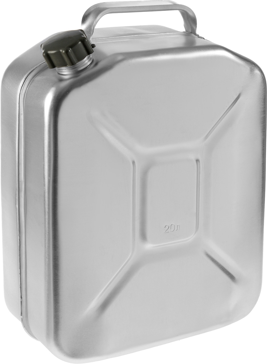 Канистра Scovo, 20 л2615S544JBКанистра Scovo, выполненная из высококачественного алюминия, предназначена для хранения горюче-смазочного материала. Для герметичного закрытия канистры предусмотрена винтовая крышка из пластика. Канистра не ржавеет и имеет небольшой вес, крестообразная штамповка по бокам придает канистре дополнительную жесткость.Объем: 20 литров.Размер: 48 х 34 х 16,5 см.