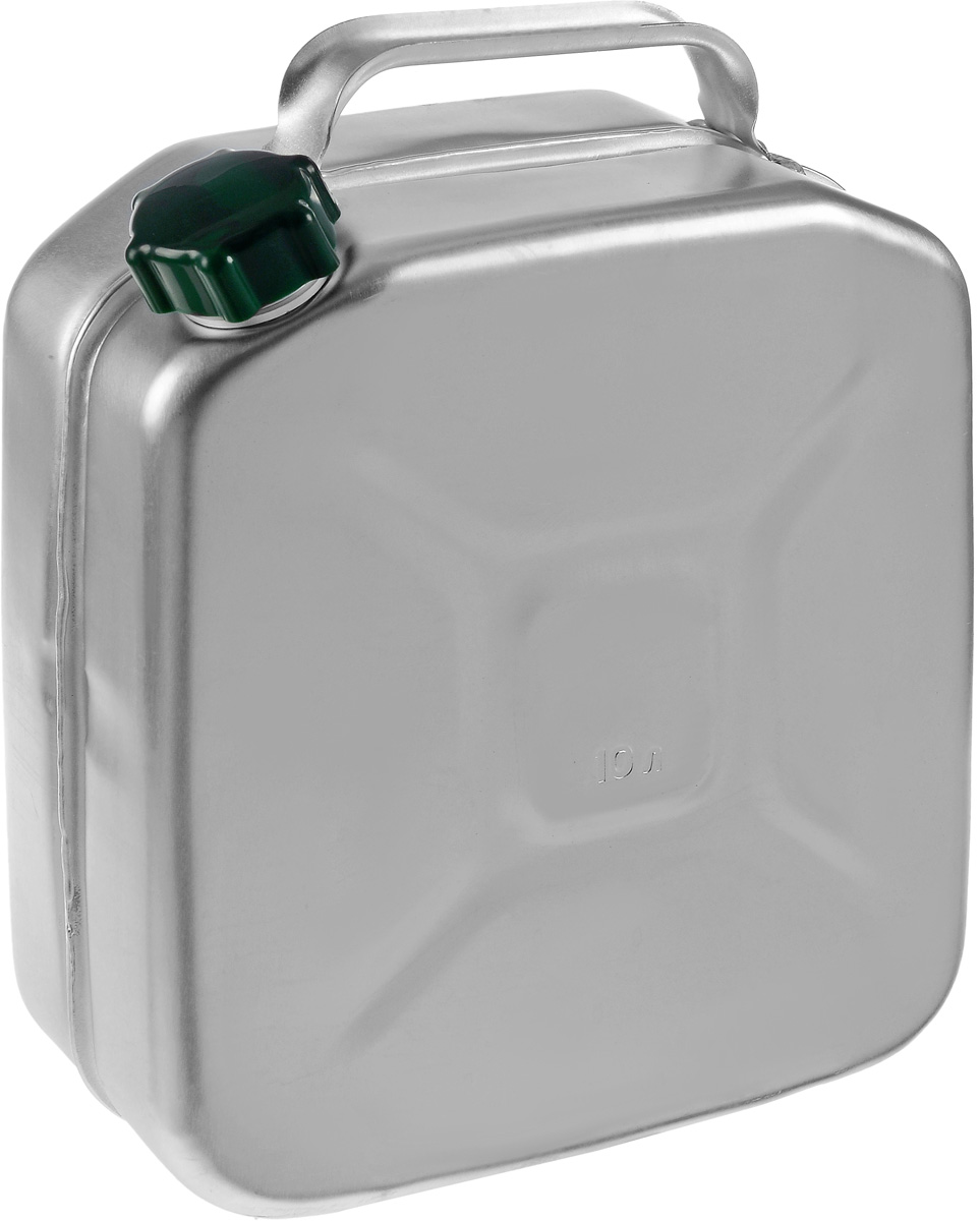 Канистра Scovo, 10 л2615S500JAКанистра Scovo, выполненная из высококачественного алюминия, предназначена для хранения горюче-смазочного материала. Для герметичного закрытия канистры предусмотрена винтовая крышка из пластика. Канистра не ржавеет и имеет небольшой вес, крестообразная штамповка по бокам придает канистре дополнительную жесткость.Объем: 10 литров.Размер: 37 х 30 х 12,5 см.