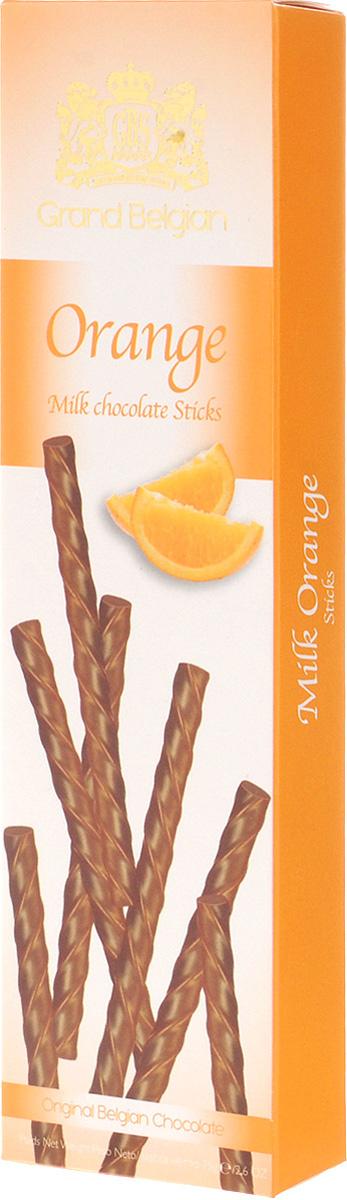 GBS Палочки из молочного шоколада с ароматом апельсина, 75 г0120710Апельсиновое торжество вкуса в сочетании с лучшим молочным шоколадом из Бельгии создает волшебную иллюзию изумительного лакомства. Эти шоколадные палочки GBS достойны внимания самых требовательных ценителей эксклюзивных сладостей.В упаковке 3 порции по 8 штук.Уважаемые клиенты! Обращаем ваше внимание, что полный перечень состава продукта представлен на дополнительном изображении.