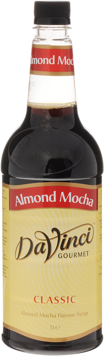 DaVinci Мокачино с миндалем сироп, 1 л0120710аромат жареного миндаля, с тонкими нотами благородного темного шоколада, вкус миндально-шоколадного мусса.