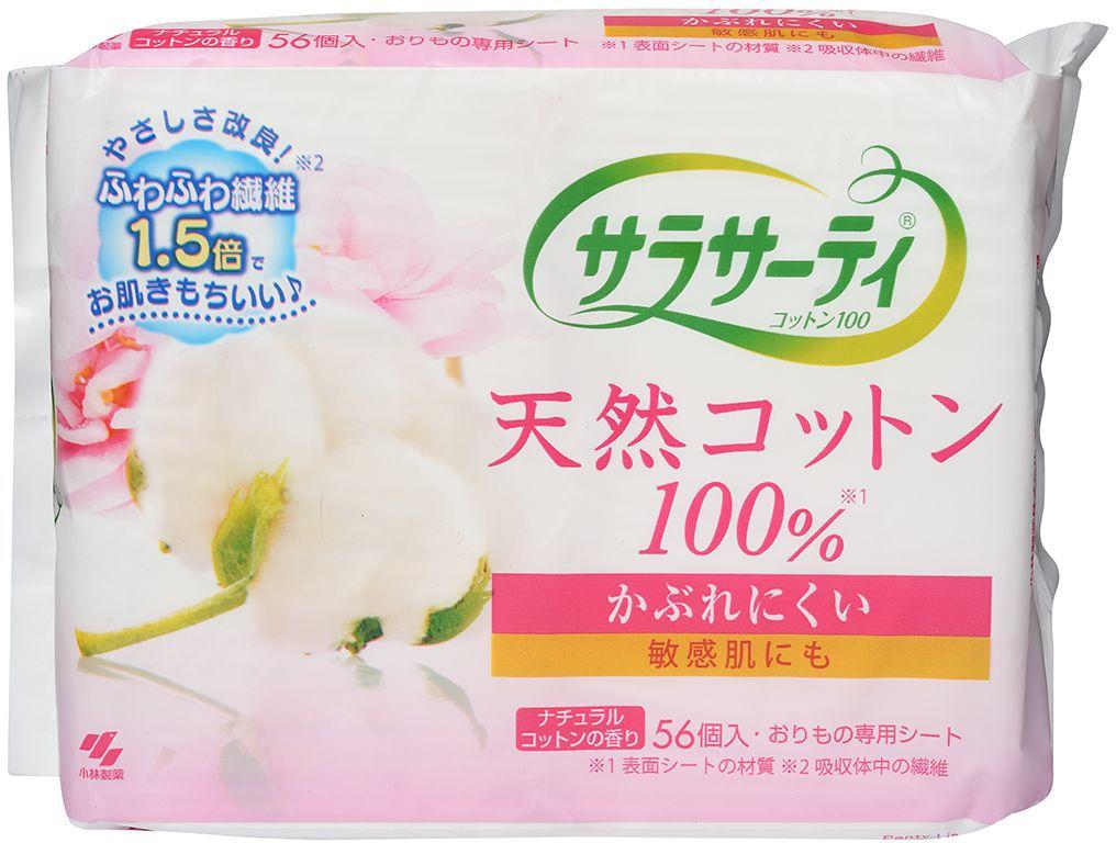 Kobayashi Прокладки ежедневные гигиенические Sarasaty Pure Cotton, с ароматом натурального хлопка, 56 штMFM-3101Тонкие и незаметные гигиенические прокладки с шелковистой поверхностью и ароматом натурального хлопка сохранят ощущение утренней чистоты и свежести на весь день. Они прекрасно впитывают и удерживают влагу, нейтрализуют запахи, сохраняют свою форму и остаются на месте даже во время занятий спортом. Их верхний слой из 100% хлопка, обладающего с высокой гигроскопичностью, позволяет коже дышать. Благодаря форме, повторяющей изгибы белья, ее смена займет считанные секунды. Удобная индивидуальная упаковка для каждой прокладки позволит ей легко спрятаться в кармане, сумочке или косметичке и сделает идеальной спутницей современной девушки.