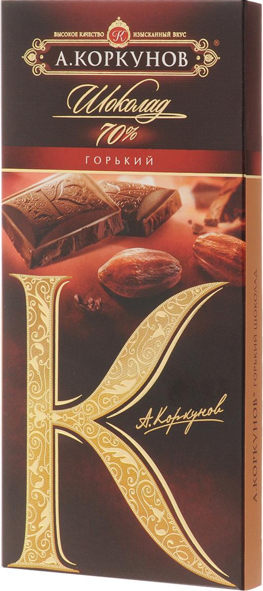 Коркунов горький шоколад 70%, 90 г шоколад lindt еxcellence горький 70%