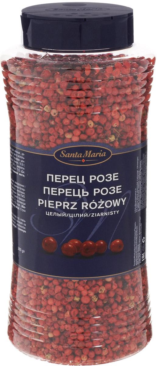 Santa Maria Перец розе, 260 г24По форме и легкому остро-сладкому вкус ягод похож на перец. Запах пряности нежный, с нотками аниса, имбиря, ментола, цитрусовых, изюма и можжевельника. Идеальная приправа для нежных, деликатных и легких блюд. Часто используется для украшения.