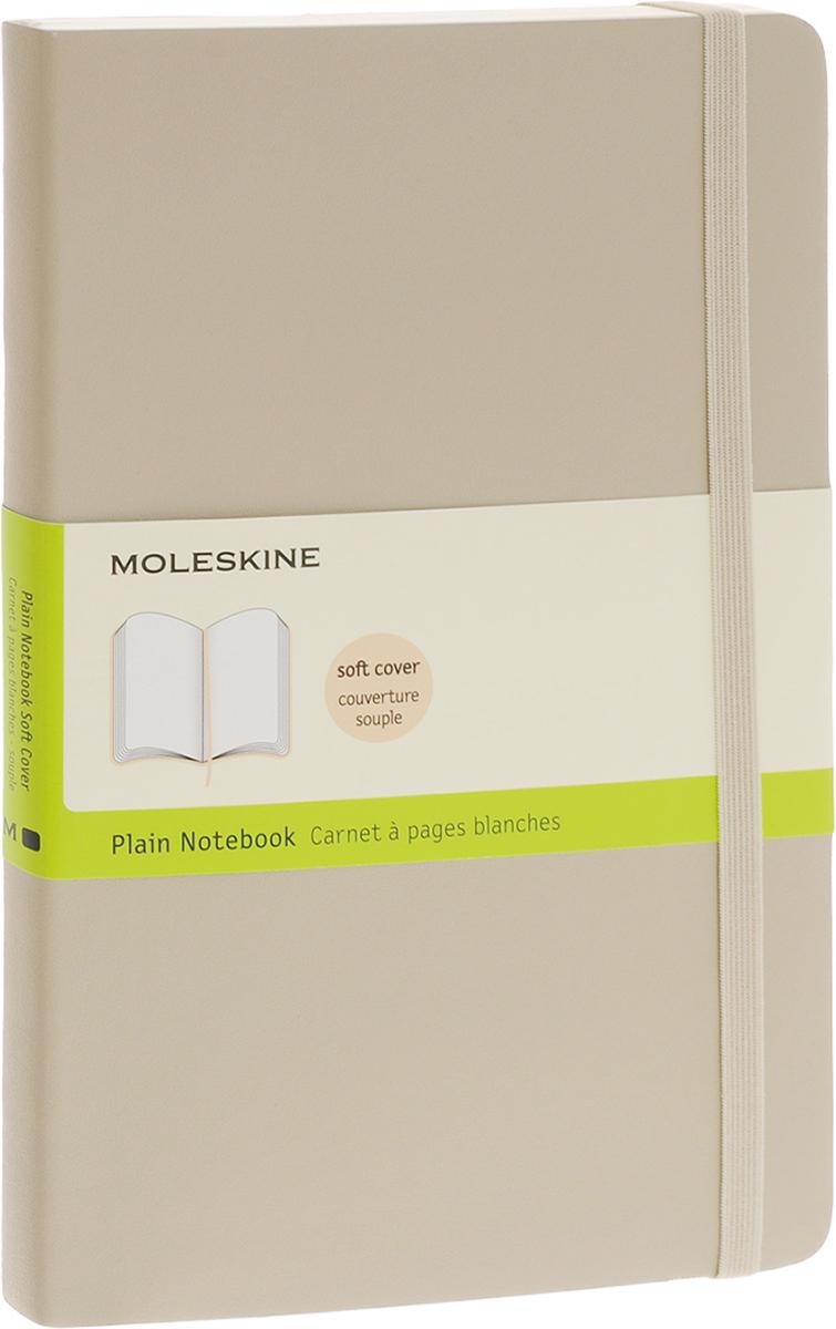 Moleskine Блокнот Classic Soft 96 листов цвет бежевый385262Новая версия популярного классического нелинованного блокнота Moleskine размера large в мягкой бежевой обложке с закругленными углами, лентой-закладкой, эластичной застежкой и вместительным внутренним карманом, куда вложена карточка с историей компании Moleskine. Этот блокнот бесспорно станет надежным спутником в путешествии и поможет сохранить яркие впечатления, воспоминания и наблюдения