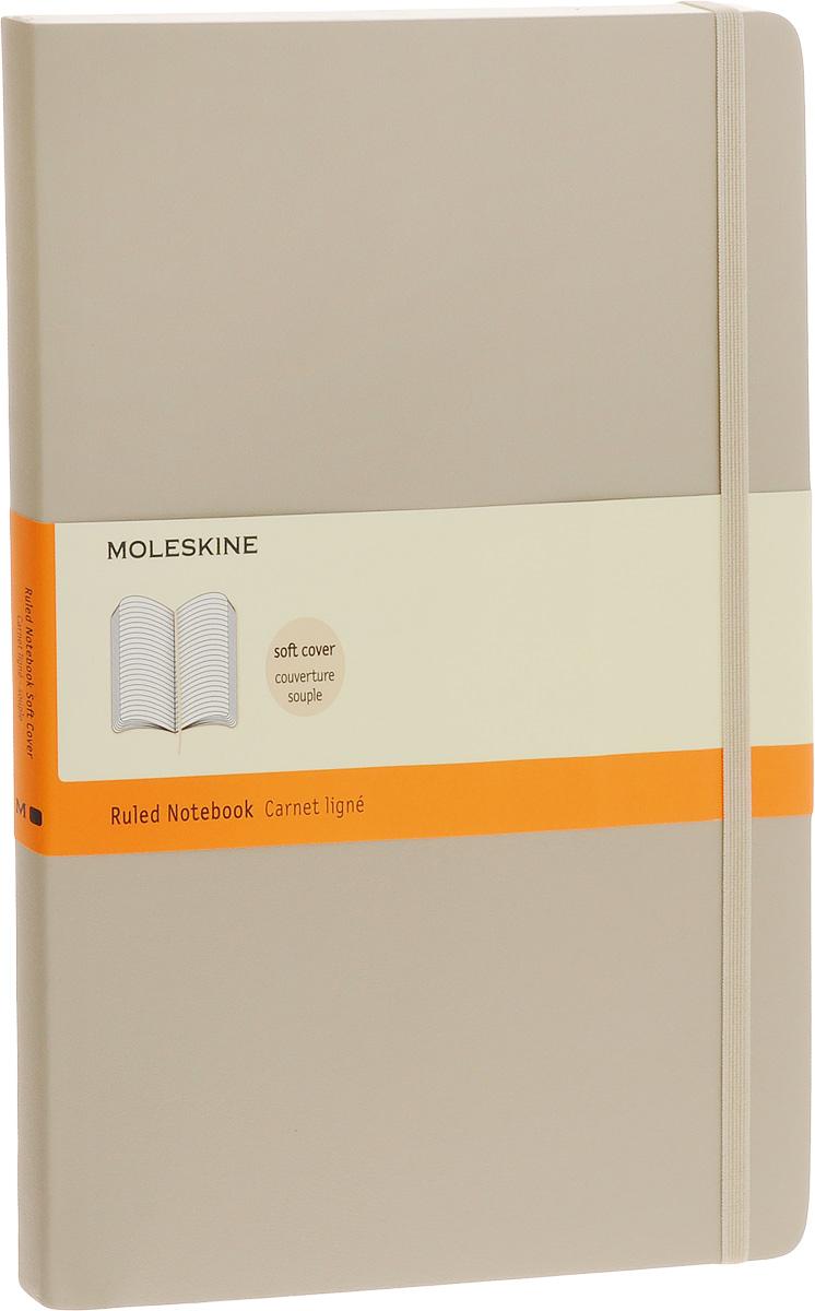 Moleskine Блокнот Classic Soft 96 листов в линейку цвет бежевый 385263ЕЖЛ17612802Классический блокнот Moleskine размера extra large в мягкой бежевой обложке с закругленными углами, лентой-закладкой, эластичной застежкой и вместительным внутренним карманом, куда вложена карточка с историей компании Moleskine, станет надежным спутником в путешествии и поможет сохранить яркие впечатления, воспоминания и наблюдения