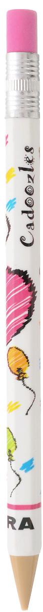 Zebra Карандаш чернографитный Fun цвет корпуса белый829044_белыйЧернографитный карандаш Zebra Fun идеален для письма и черчения.Корпус карандаша дополнен ластиком. Мягкое комфортное письмо и тонкие линии при написании принесут вам максимум удовольствия. Компактный размер карандаша идеально подходит для маленьких детских рук. Яркая оригинальная расцветка выделит карандаш среди других канцелярских предметов на столе вашего ребенка.