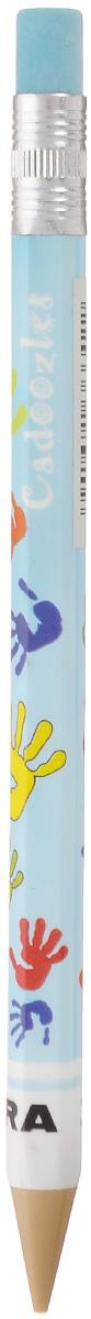 Zebra Карандаш чернографитный Fun цвет корпуса голубой829044_голубойЧернографитный карандаш Zebra Fun идеален для письма и черчения.Корпус карандаша дополнен ластиком. Мягкое комфортное письмо и тонкие линии при написании принесут вам максимум удовольствия. Компактный размер карандаша идеально подходит для маленьких детских рук. Яркая оригинальная расцветка выделит карандаш среди других канцелярских предметов на столе вашего ребенка.