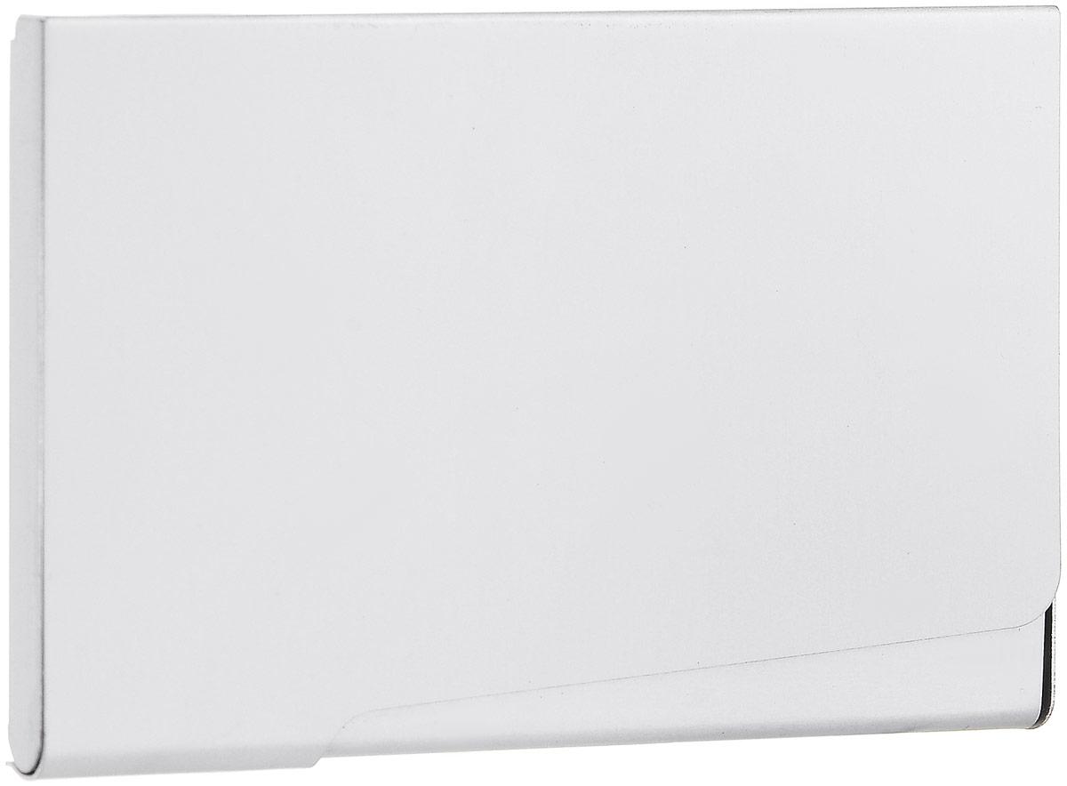 Металлическая визитница Durable на 20 визиток, цвет: серебристыйMWH5602/3Компактная металлическая визитница Durable на 20 карточек выполнена из серебристого металла. Визитница, закрывающая на защелку, позволит хранить все визитные карты под рукой. Характеристики: Размер визитницы: 6 см х 9,3 см х 1,6 см. Материал: алюминий. Размер упаковки: 7 см х 12,5 см х 1,3 см.