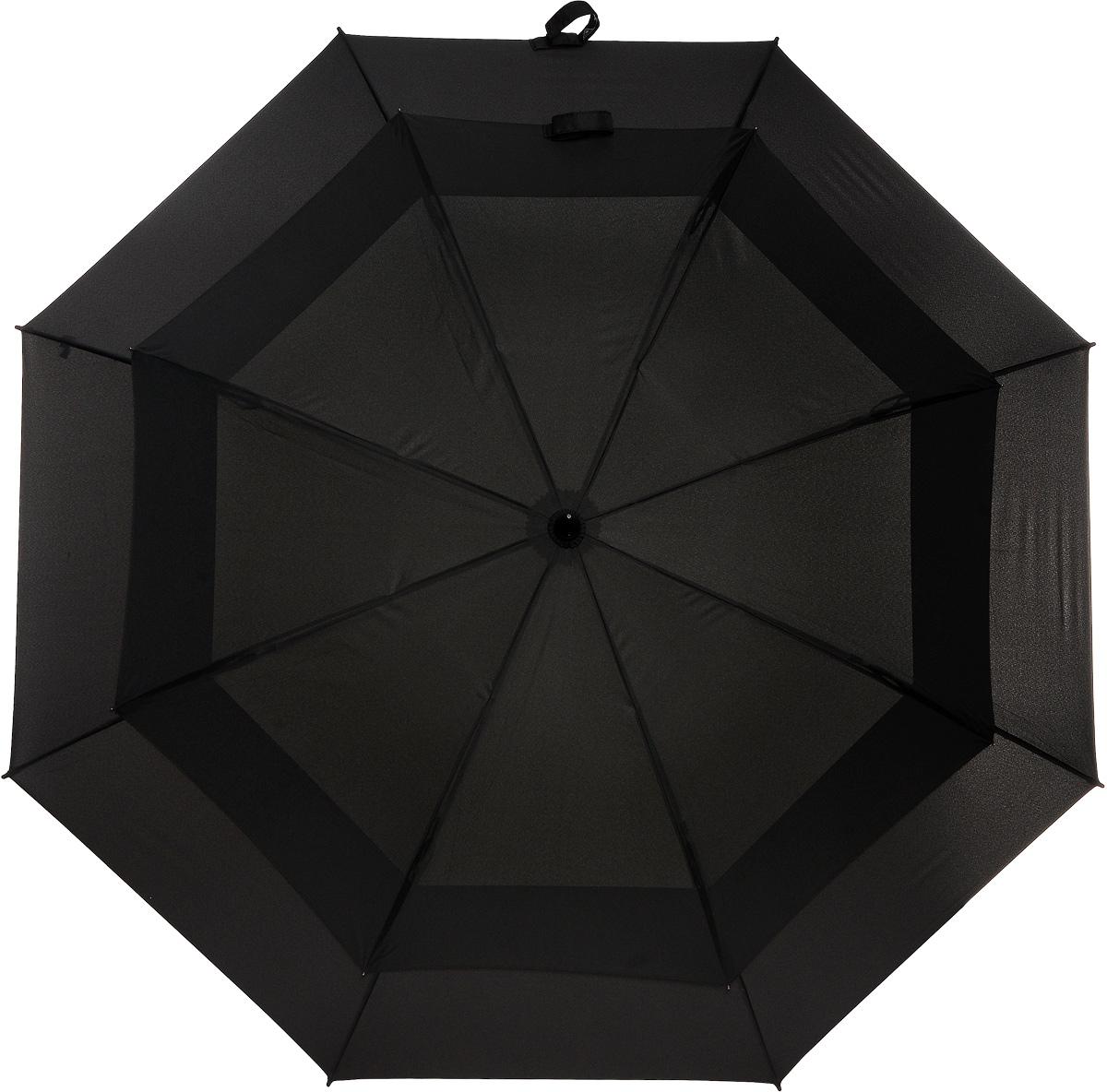Зонт-трость Stormshield, механический, цвет: черный. S 669 3S001K50K503414_0010Оригинальный механический зонт-трость Stormshield с двойным куполом способен укрыть от дождя и штормового ветра небольшую компанию. Усиленный каркас зонта состоит из прочного стального стержня и 8 спиц из фибергласса. Купол выполнен из полиэстера черного цвета. Рукоятка зонта изготовлена из прорезиненного пластика.Зонт-трость имеет механический тип сложения: купол открывается и закрывается вручную до характерного щелчка.Такой стильный и необычный зонт выделит вас из толпы и поднимет настроение окружающим. В комплекте - чехол для хранения. Характеристики: Материал: полиэстер, пластик, сталь, фибергласс. Цвет: черный. Диаметр купола: 130 см. Длина ручки (стержня) в раскрытом виде:92 см.Длина зонта (в закрытом виде): 99 см.Вес: 710 г. Артикул: S 669 3S001.