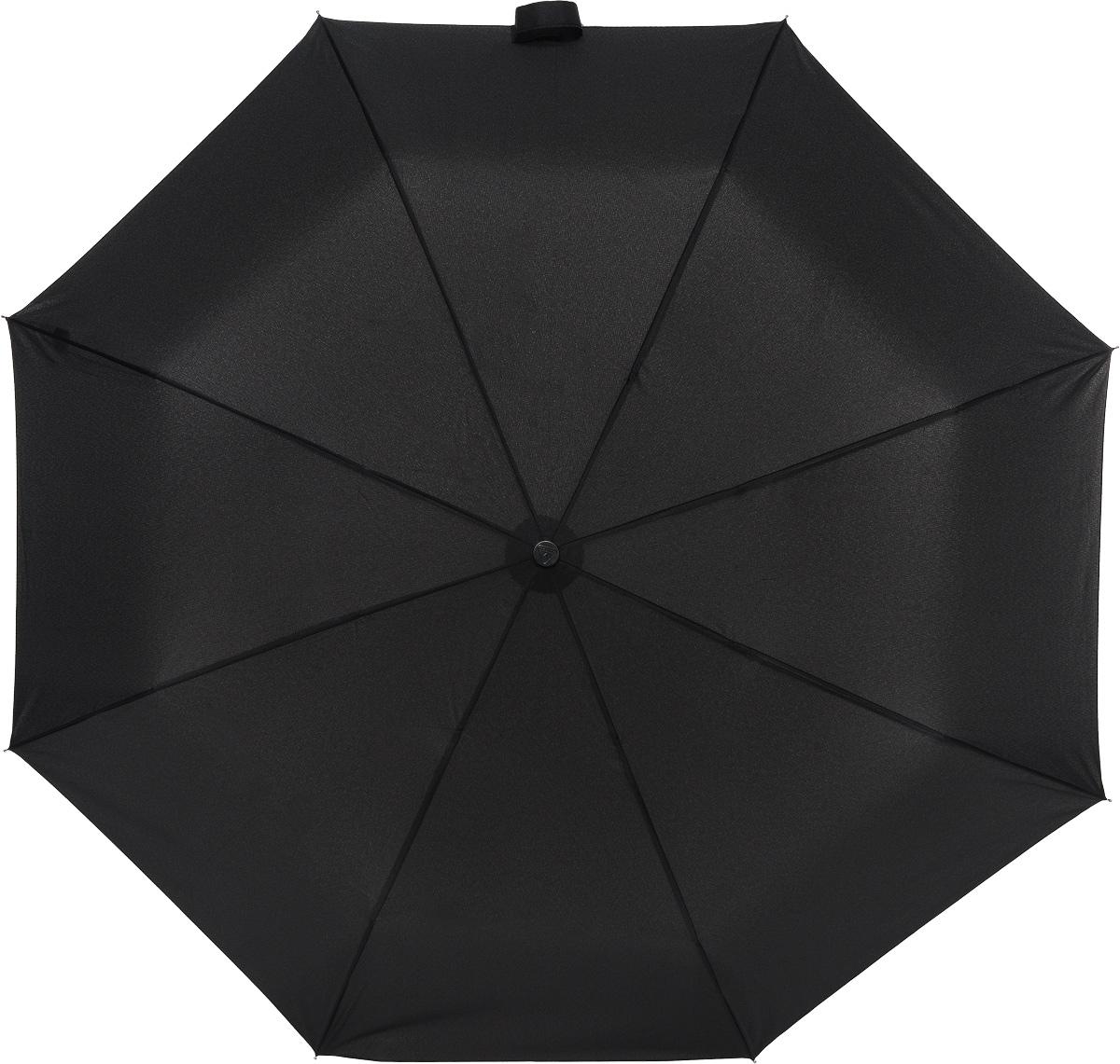 Зонт мужской Fulton, механика, 3 сложения, цвет: черный. G560-01Серьги с подвескамиЗонт мужской Fulton надежно защитит от непогоды. Купол выполнен из выполнен из высококачественного полиэстера, который не пропускает воду.Каркас зонта, выполненный из прочного металла, состоит из восьми спиц. Зонт имеет механический тип сложения: открывается и закрывается вручную до характерного щелчка. Удобная пластиковая ручка оснащена шнурком, с помощью которого зонт можно носить на запястье. Также к зонту прилагается чехол.