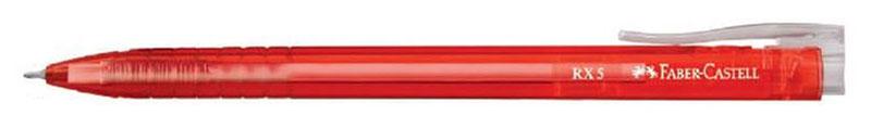 Faber-Castell Ручка шариковая RX-5 цвет корпуса красный545321_красныйШариковая ручка Faber-Castell RX-5 имеет эргономичную трехгранную форму, качественный нажимной механизм и тонкий наконечник. Чернила пониженной вязкости соответствуют цвету корпуса. Корпус дополнен упругим клипом.