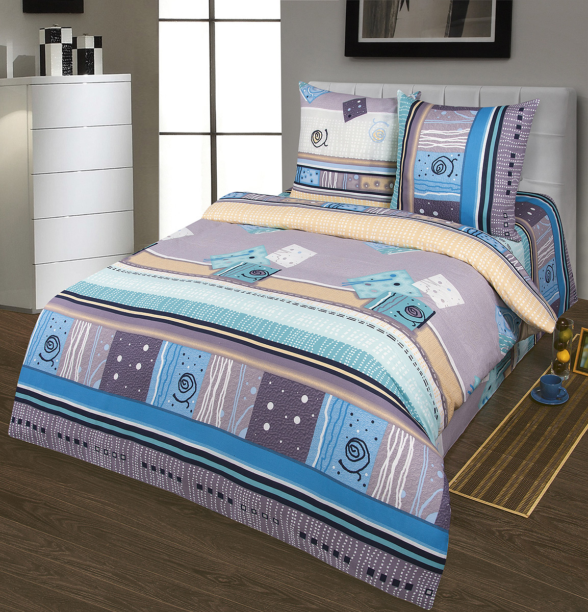 Комплект белья Шоколад Мираж, 2-спальный, наволочки 70x70. Б104391602Комплект постельного белья Шоколад Мираж является экологически безопасным для всей семьи, так как выполнен из натурального хлопка. Комплект состоит из пододеяльника, простыни и двух наволочек. Постельное белье оформлено оригинальным рисунком и имеет изысканный внешний вид.Бязь - это ткань полотняного переплетения, изготовленная из экологически чистого и натурального 100% хлопка. Она прочная, мягкая, обладает низкой сминаемостью, легко стирается и хорошо гладится. Бязь прекрасно пропускает воздух и за ней легко ухаживать. При соблюдении рекомендуемых условий стирки, сушки и глажения ткань имеет усадку по ГОСТу, сохранятся яркость текстильных рисунков. Приобретая комплект постельного белья Шоколад Мираж, вы можете быть уверены в том, что покупка доставит вам и вашим близким удовольствие иподарит максимальный комфорт.