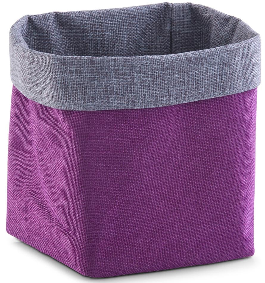 Хлебница Zeller, цвет: фиолетовый, 15 х 15 х 18 см4630003364517Хлебница Zeller, выполненная из плотного текстиля, хорошо держит форму. Изделие прекрасно подойдет для хранения хлебобулочных изделий, а также фруктов. Оригинальный дизайн хлебницы привнесет изюминку в вашу кухню.