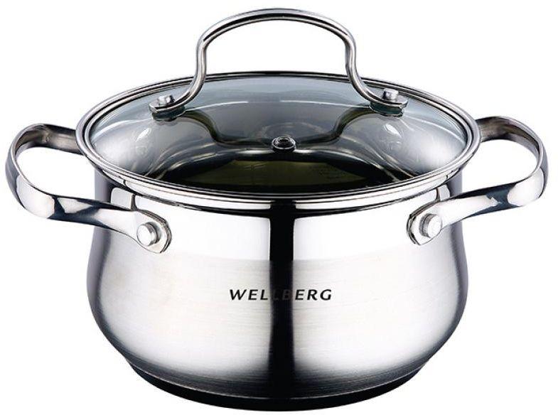 Кастрюля Wellberg, с крышкой, 3,1 лFS-91909Кастрюля Wellberg, с крышкой, 3,1 л